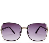 Steve Madden Women's Square Metal with Hammered Temple Sunglasses