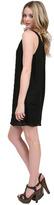 Zoa Striped Jacquard Silk Dress in Black