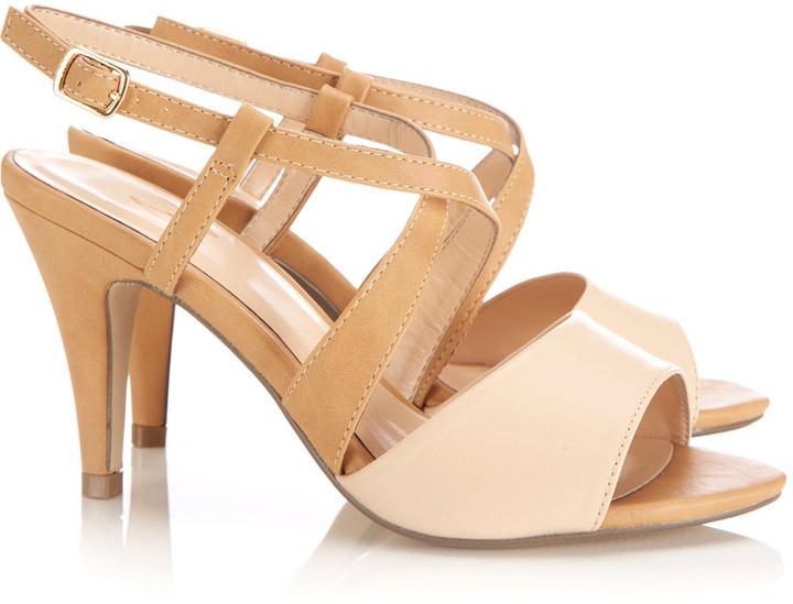 Wallis Tan Mid Heel Sandal