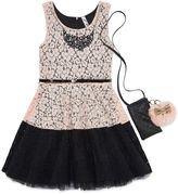 Knitworks Knit Works Sleeveless Lace Skater Dress - Girl's 7-16 & Plus