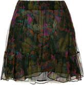 IRO abstract print skirt