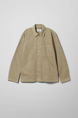 Weekday Jess Denim Jacket - Green