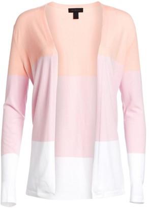 Saks Fifth Avenue COLLECTION Viscose Elite Open Front Colorblock Cardigan