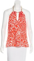 Milly Silk Patterned Top