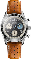 Vivienne Westwood vv142bktn sotheby stainless steel and leather watch