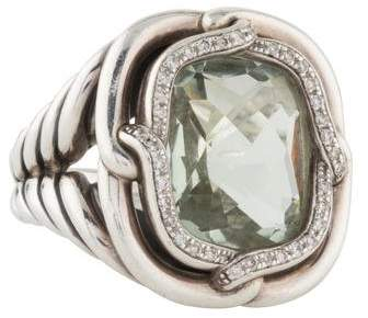 David Yurman Prasiolite & Diamond Labyrinth Ring