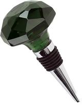 Sheridan Dark Green Optic Crystal Bottle Stopper