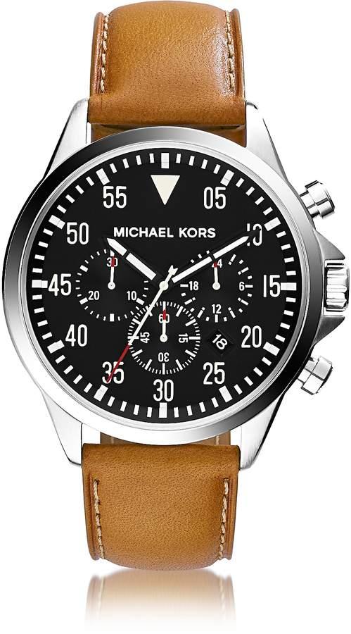 e60830cc4dc8 Michael Kors Mens Leather Watch - ShopStyle
