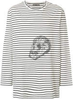 Yohji Yamamoto striped skull T-shirt