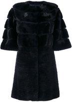 Yves Salomon short-sleeve fur coat