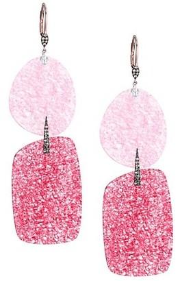 Meira T Quartz Double Drop Earrings