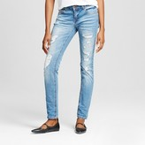 Dollhouse Women's Destructed Skinny Jeans with Rolled Cuff Juniors')