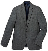 Black Label Pattern Tweed Blazer Regular Length