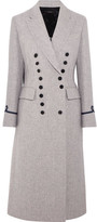 Joseph New Jacky Appliquéd Wool-blend Coat - Gray
