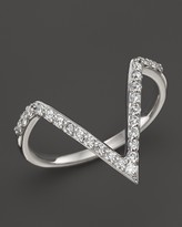 KC Designs Diamond Angle Ring in 14K White Gold, .25 ct. t.w.
