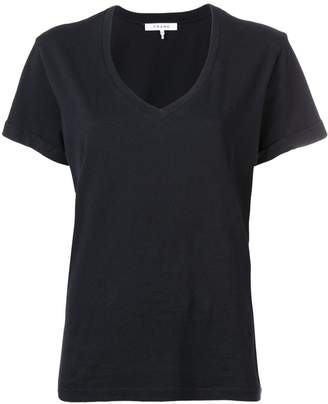 Frame fitted V-neck T-shirt