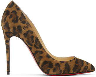 Christian Louboutin Brown Leopard Pigalles Follies 100 Heels