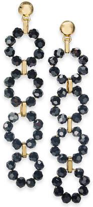 INC International Concepts Inc Gold-Tone Beaded Circles Linear Drop Earrings