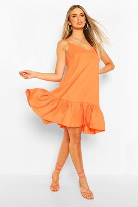 boohoo Strappy Drop Hem Swing Dress