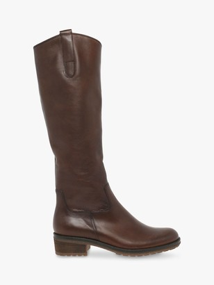 Gabor Shields Leather Riding Boots, Brown