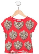 Dolce & Gabbana Girls' Sacred Heart Print T-Shirt