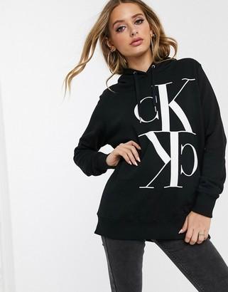 Calvin Klein Jeans oversized mirror logo hoody