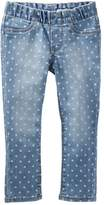 Osh Kosh Oshkosh Bgosh Girls 4-8 Polka-Dot Pull-On Denim Pants