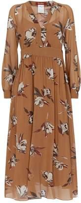 Max Mara Floral Silk Dress