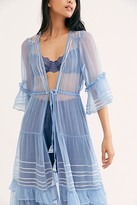 Free People Nfc Silver Linings Embellished Kimono by NFC at Free People, Periwinkle, One Size