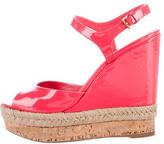 Gucci Patent Espadrille Sandals