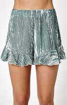 KENDALL + KYLIE Kendall & Kylie Velvet Ruffle Shorts