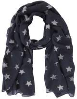 Mint Velvet Navy Linear Star Foiled Scarf