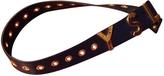 Saint Laurent Blue Leather Belt
