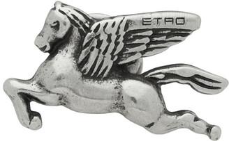 Etro Silver Pegasus Pin
