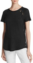 Rebecca Taylor Lace Panel Tee