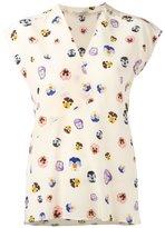 Christopher Kane ditsy pansy print blouse - women - Silk - 40