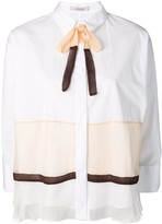 Schumacher Dorothee colour-block fitted shirt