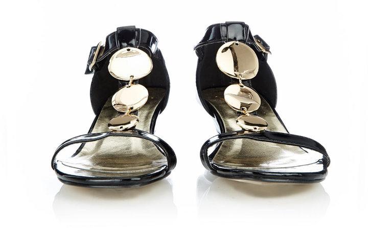 Wallis Black T-Bar Sandal