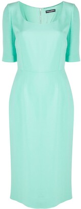 Dolce & Gabbana U-Neck Fitted Midi Dress