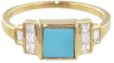 Mociun Square Turquoise Ring - Yellow Gold