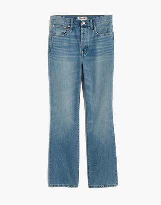 Madewell Petite Rigid Slim Demi-Boot Jeans in Banter Wash