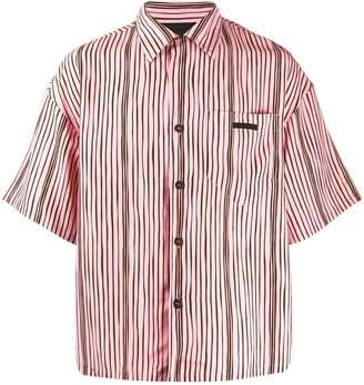 Prada striped boxy shirt