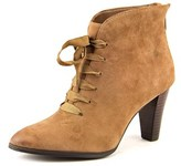 Adrienne Vittadini Tino Pointed Toe Leather Ankle Boot.