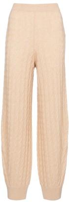 Totême Cable-knit cashmere sweatpants