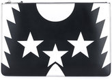 Givenchy star print Iconic clutch - women - Calf Leather - One Size