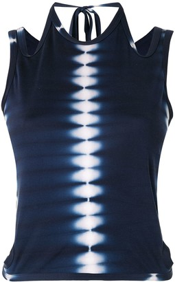 Dion Lee Shibori tie-dye tank top
