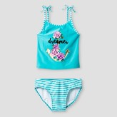 Xhilaration Girls' Tankini Anchor Aqua