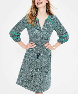Boden Women's Casual Dresses TUR - Turquoise Heidi Jersey Peasant Dress - Women, Women's Tall & Petite