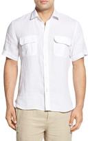 Toscano Regular Fit Short Sleeve Linen Sport Shirt