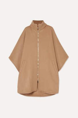 Stella McCartney Turtleneck Wool Cape - Camel